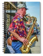 New Orleans Jazz Sax Spiral Notebook