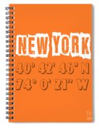 New York Coordinates Spiral Notebook