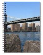 New York's Manhattan Bridge Spiral Notebook