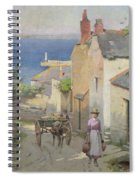 Newlyn From The Bottom Of Adit Lane Spiral Notebook