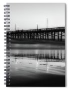 Newport Beach Pier At Sunrise Spiral Notebook