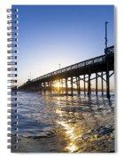 Newport Pier Curl Spiral Notebook