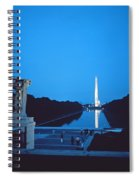Night View Of The Washington Monument Across The National Mall Spiral Notebook