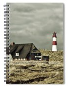 North Sea Lighthouse - Germany Spiral Notebook