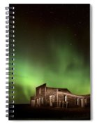 Northern Lights Canada Abandoned Building Spiral Notebook