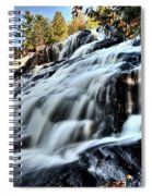 Northern Michigan Up Waterfalls Bond Falls Spiral Notebook