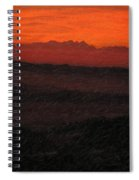 Not Quite Rothko - Blood Red Skies Spiral Notebook
