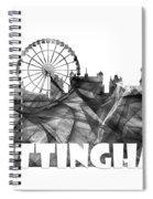 Nottingham England Skyline Spiral Notebook
