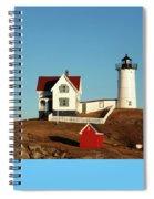 Nubble Light House Spiral Notebook