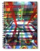 Nude With Wine Glass Spiral Notebook