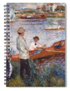 Oarsmen At Chatou Spiral Notebook