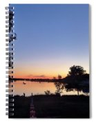 Obear Park And The Danvers River At Sunset Spiral Notebook