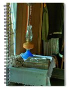 Oil Lamp And Bible Spiral Notebook