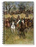 Oklahoma Land Rush, 1891 Spiral Notebook