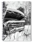 Old Abandoned Pickup Truck In The Snow Spiral Notebook