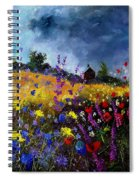 Old Chapel And Flowers Spiral Notebook