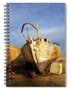 Old Dilapidated Wooden Boat  Spiral Notebook