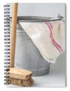 Old Fashioned Housekeeping With Zinc Bucket Spiral Notebook