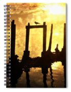 Old Pier At Sunset Spiral Notebook