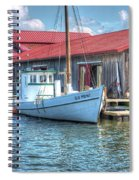 Old Point Crabbing Boat Spiral Notebook