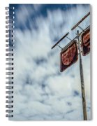 Old Rustic Fuel Station Sign In The Countryside Spiral Notebook