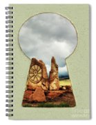 Old Spanish Trail Marker Spiral Notebook