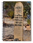 Old Tucson Graveyard Spiral Notebook