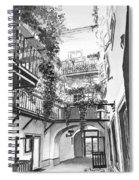 Old Viennese Courtyard Spiral Notebook