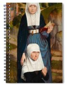 Old Woman At Prayer With St. Anne Spiral Notebook