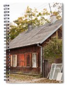 Old Wooden House With Tar Spiral Notebook