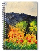 Olive Trees And Poppies  Spiral Notebook