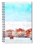 On A Boat Trip On The Grand Canal In The Beautiful City Of Venice In Italy Spiral Notebook