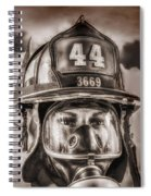 On Duty And Into Fire Spiral Notebook