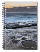 On The Ledge - Sunrise Seascape Spiral Notebook