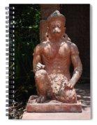 Orange Monkey Spiral Notebook