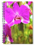 Orchid Oil Painting Spiral Notebook