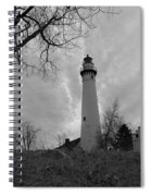 Overcast Lighthouse Spiral Notebook