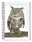Owl In Pose Spiral Notebook