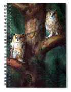 Owls In Moonlight Spiral Notebook