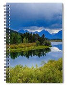 Oxbow Bend Storm Clouds Spiral Notebook