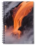 Pahoehoe Lava Flow Spiral Notebook