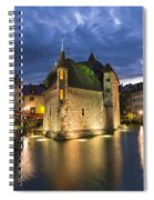 Palais De L'isle And Thiou River In Annecy Spiral Notebook