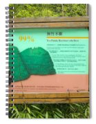 Panda Sign In Wolong Nature Reserve Spiral Notebook