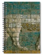 Panel With Striding Lion Spiral Notebook
