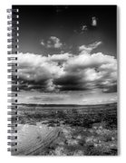 Panorama Of A Valley In Utah Desert With Blue Sky Spiral Notebook