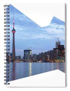 Panorama Of The City Of Toronto Spiral Notebook