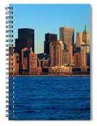 Panoramic Sunset View Of Lower Spiral Notebook