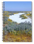 Panoramic View Of White Salt And Desert Spiral Notebook