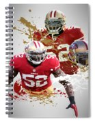 Patrick Willis 49ers Spiral Notebook