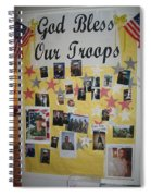 Patriotic Collage St. Helen Of The Cross Catholic Church Eloy Arizona 2004 Spiral Notebook